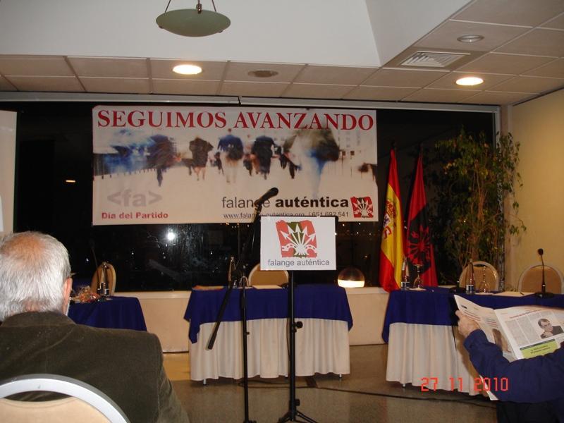 Celebración del día del partido de Falange Auténtica