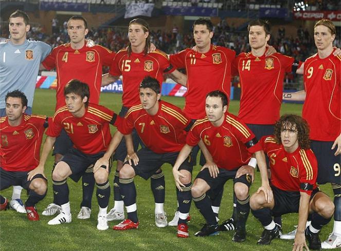 Selección española antes de un partido