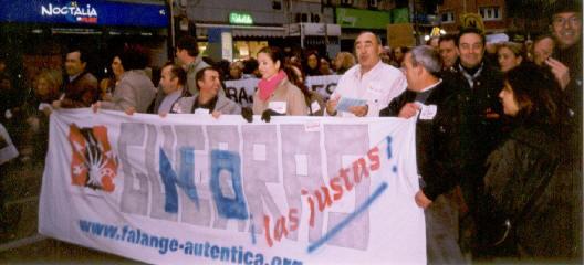 Falange Auténtica contra la guerra de Iraq