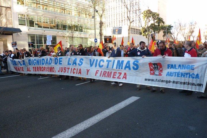Falange Auténtica en la manifestación de VcT