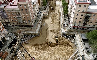 Obras del parking de Virgen del Romero