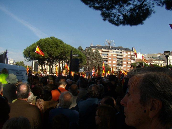Manifestación de voces contra el terrorismo