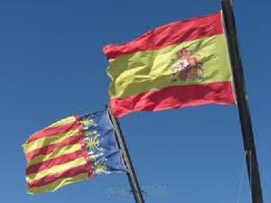 Banderas de España y Comunidad Valencia