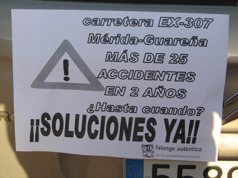 Cartel de Falange Auténtica Guareña