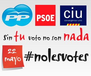 Imagen de la plataforma NO LES VOTES