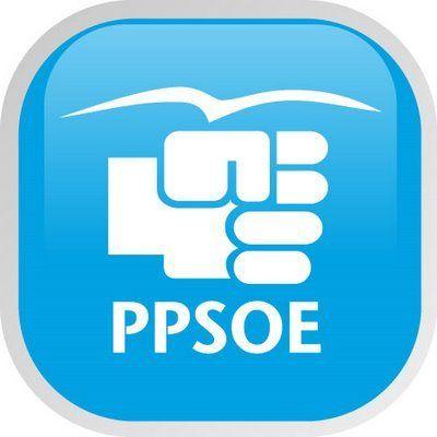 Montaje con las imágenes corporativas de PP y PSOE