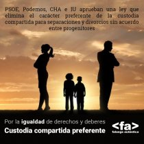 Custodia compartida preferente